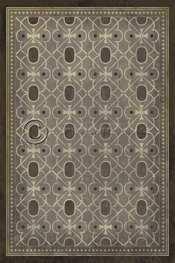 Spicher and Company Vintage Vinyl Floor Cloths Baker