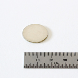 925銀 丸抜き板1.2mm厚 直徑 20mm 彫金材料店 New Art