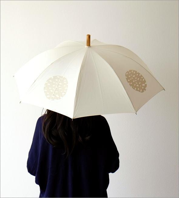 和風 和柄 モダン 大人 おしゃれ 日傘 日本製 UVカット コットン100% 傘 コットンパラソル 水玉A