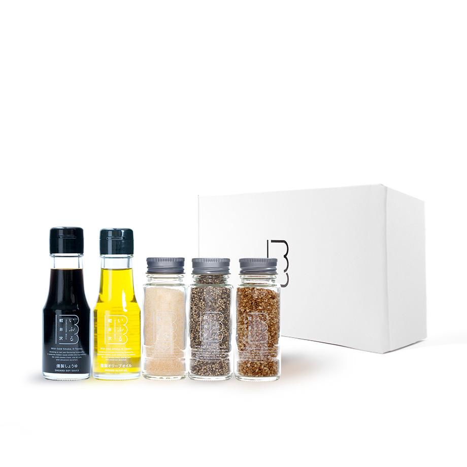 燻製セットE 調味料5種(瓶) - 軽井沢いぶる