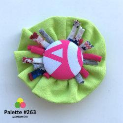 モノモニのリメイクシリーズ「パレット」の可愛いブローチ