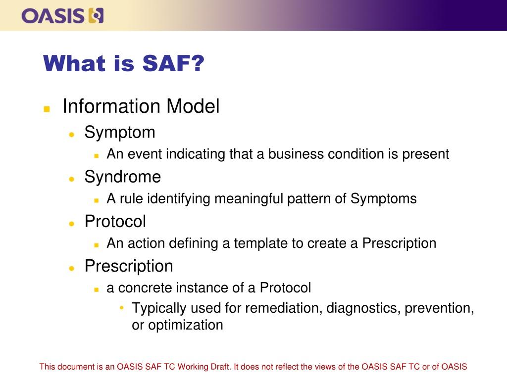 PPT - Symptoms Automation Framework (SAF) for Cloud ...