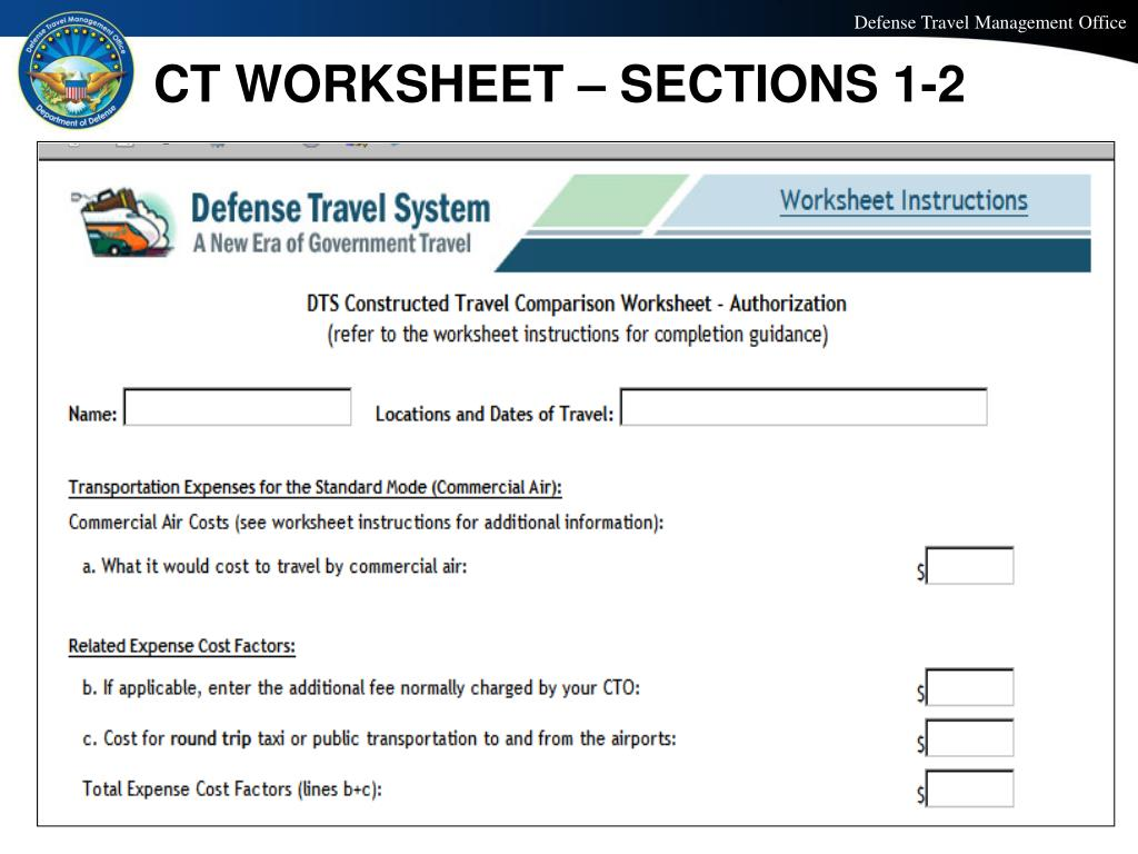Dts Constructed Travel Worksheet