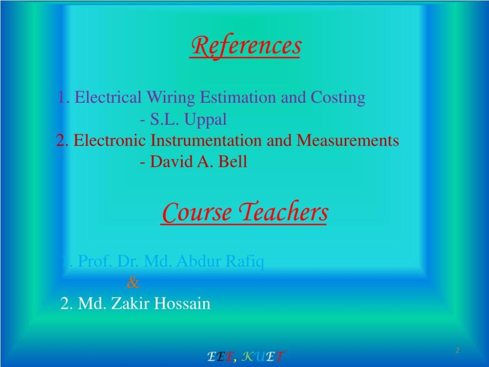medium resolution of electrical wiring estimation and costing s l uppal 2 electronic instrumentation and measurements david a bell course teachers 1 prof