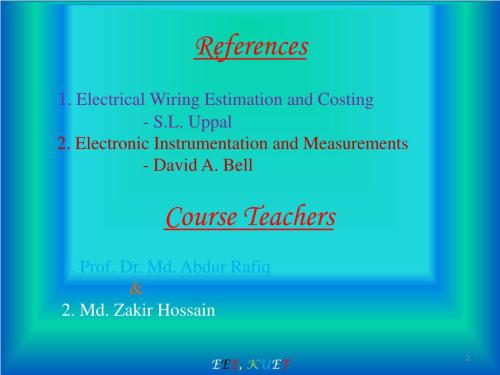 small resolution of electrical wiring estimation and costing s l uppal 2 electronic instrumentation and measurements david a bell course teachers 1 prof