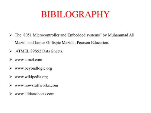 small resolution of bibilography the 8051 microcontroller and embedded systems by muhammad ali mazidi and janice gillispie mazidi pearson education
