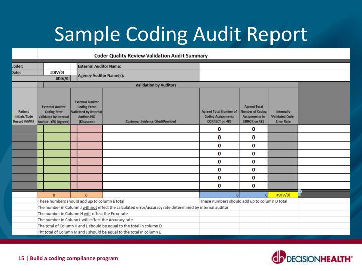 Coding Auditor Sample Resume. medical billing and coding ...