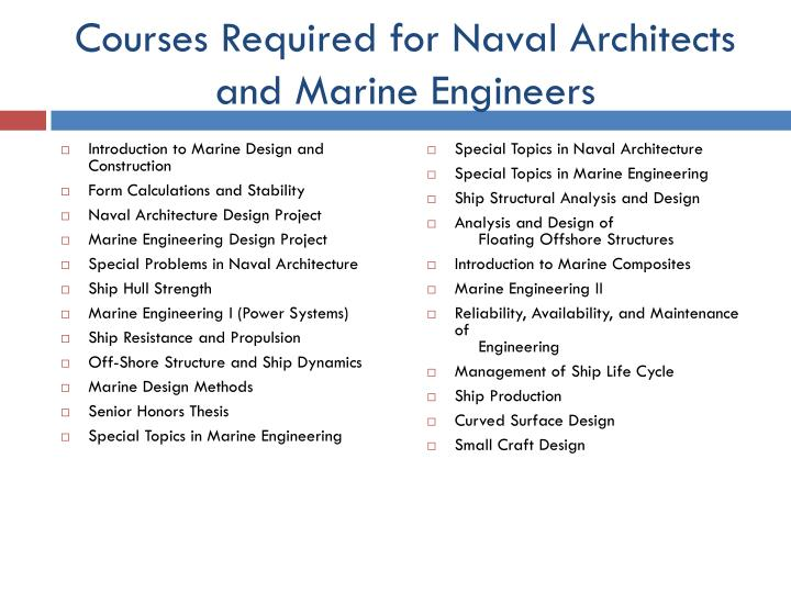 Ppt  Naval Architecture And Marine Engineering Powerpoint
