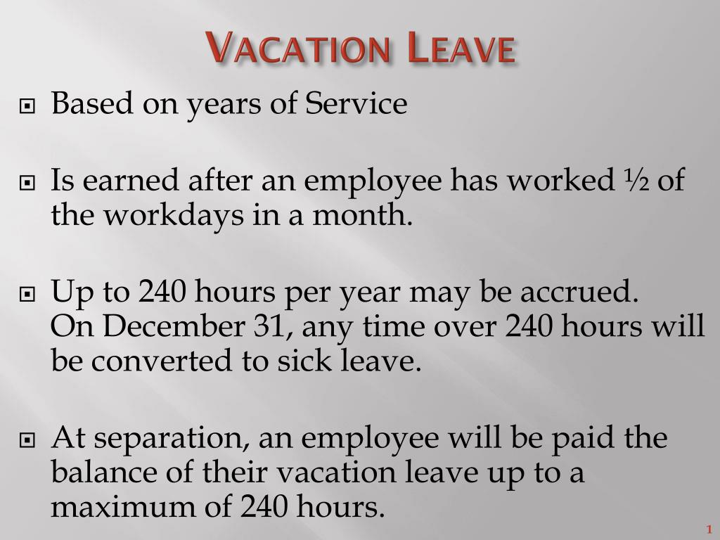 Ppt Vacation Leave Powerpoint Presentation Free Download Id 1629833