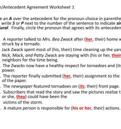 Pronoun Agreement Worksheet   Printable Worksheets and Activities for  Teachers [ 768 x 1024 Pixel ]
