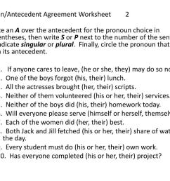 Pronoun And Antecedent Agreement Worksheet   Printable Worksheets and  Activities for Teachers [ 768 x 1024 Pixel ]