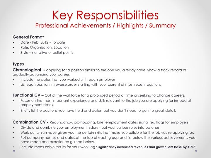 PPT Writing Your Curriculum Vitae PowerPoint