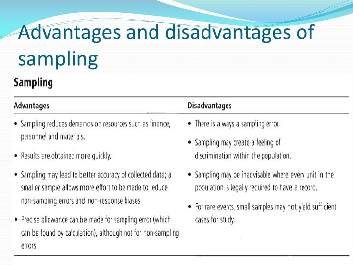 Disadvantages Of Sampling In Research Research Paper Academic