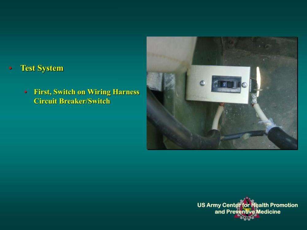 medium resolution of test system first switch on wiring harness circuit breaker switch