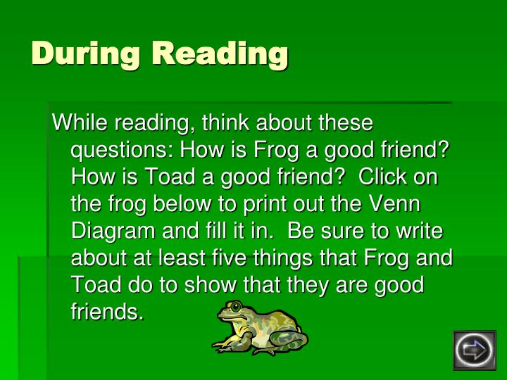 frog and toad venn diagram micro usb charger cable wiring ppt are friends powerpoint presentation id 1758909 during reading