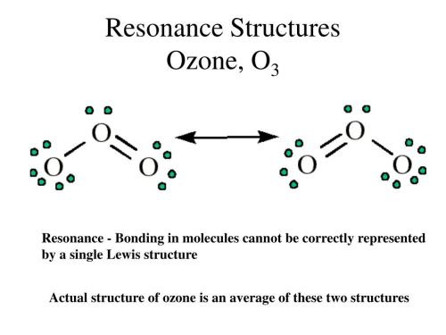 small resolution of ppt electron dot structures powerpoint presentation id 1775299resonance structuresozone o3 resonance bonding in molecules cannot