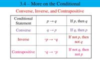 PPT - Converse, Inverse, and Contrapositive PowerPoint ...