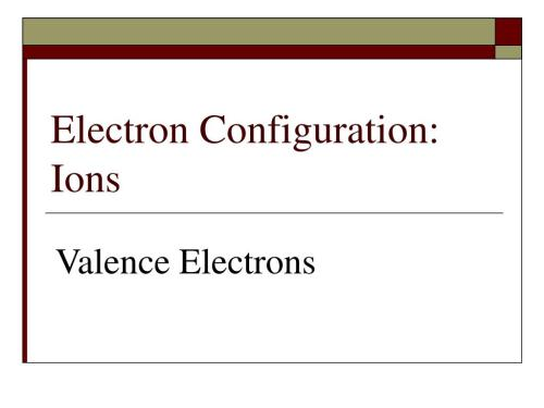 small resolution of electron configuration ions valence electrons