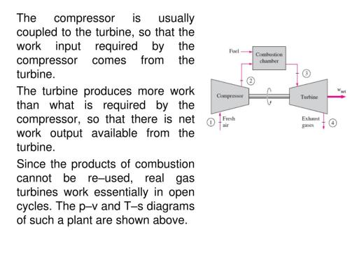 small resolution of the compressor is usually coupled to the turbine so that the