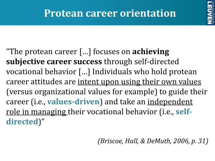 protean career
