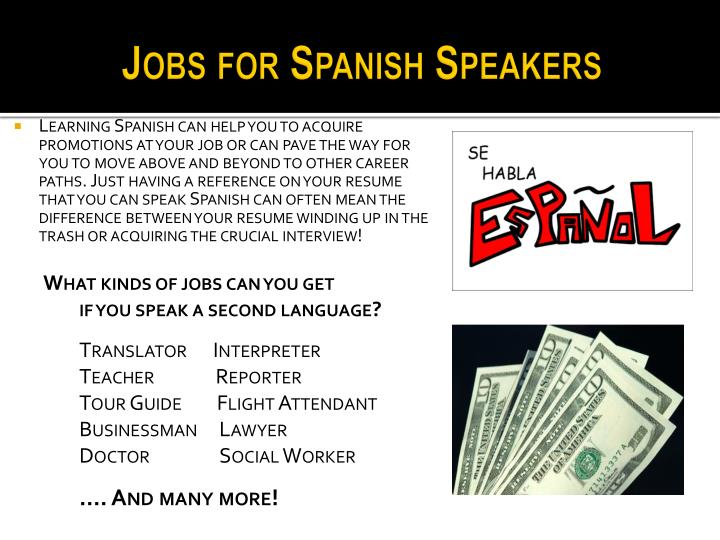 PPT  The Value of Language Learning Why Study Spanish