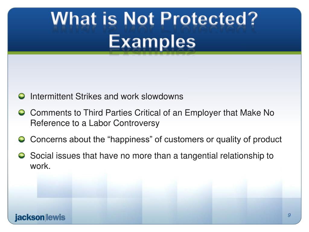 PPT - DO YOUR HANDBOOKS AND POLICIES VIOLATE THE NATIONAL LABOR RELATIONS ACT? PowerPoint Presentation - ID:1963040