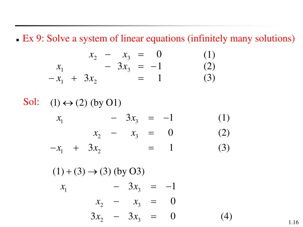 PPT - Chapter 1 Systems of Linear Equations PowerPoint Presentation, free download - ID:1977234