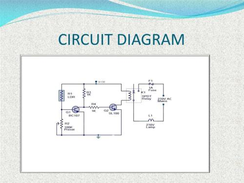 small resolution of  it will be in the off state and when it is dark then the light will be in on state it means ldr is inversely proportional to light circuit diagram