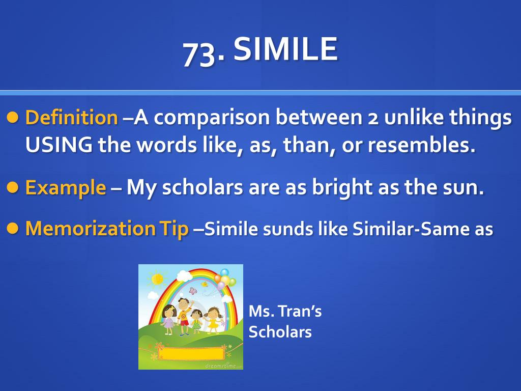 PPT - 73. SIMILE PowerPoint Presentation. free download - ID:2040577
