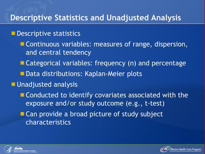 PPT  Considerations for Statistical Analysis in Observational Comparative Effectiveness