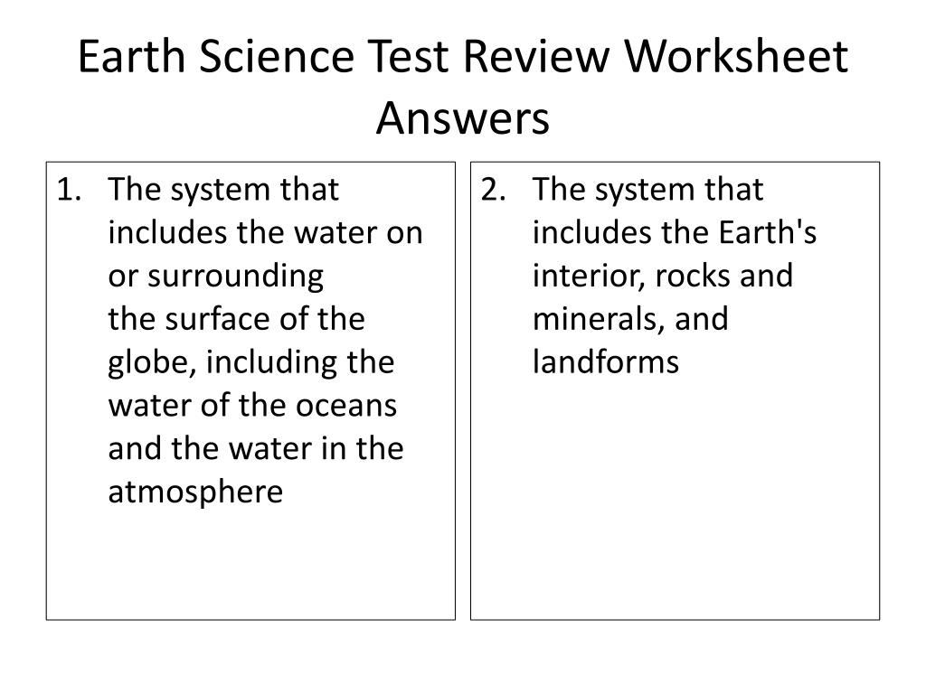 hight resolution of PPT - Earth Science Test Review Worksheet ANSWERS (30 points) PowerPoint  Presentation - ID:2055237