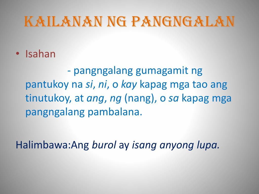 hight resolution of Kailanan Ng Pangngalan Worksheet   Printable Worksheets and Activities for  Teachers