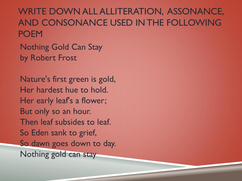 Onomatopoeia Poem By Robert Frost