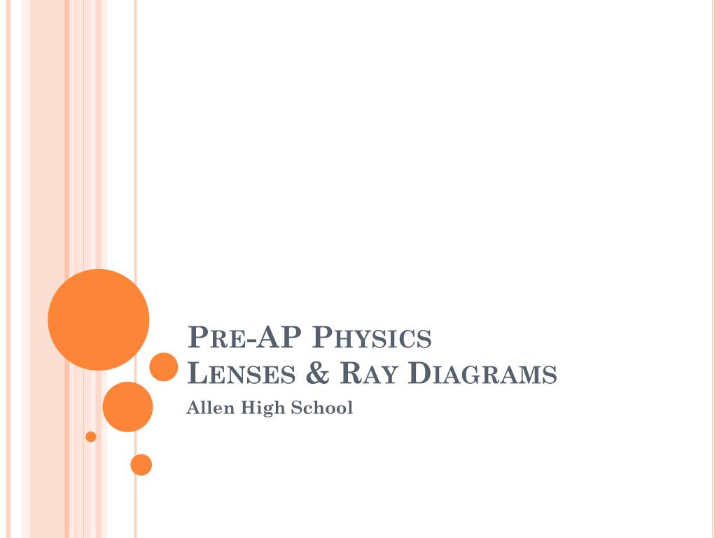 lenses for ray diagram physics home phone wiring ppt pre ap diagrams powerpoint presentation n