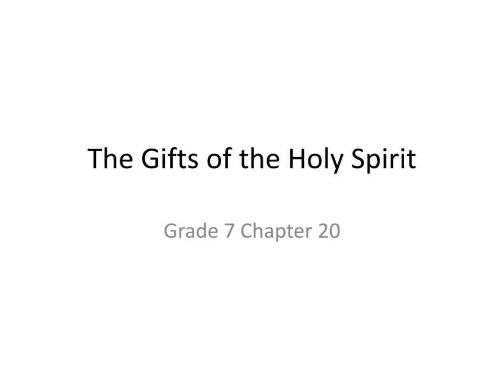 medium resolution of PPT - The Gifts of the Holy Spirit PowerPoint Presentation