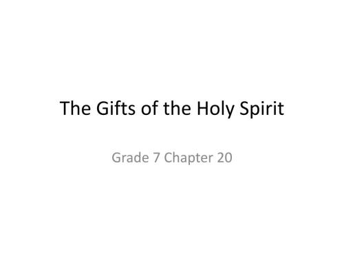 small resolution of PPT - The Gifts of the Holy Spirit PowerPoint Presentation