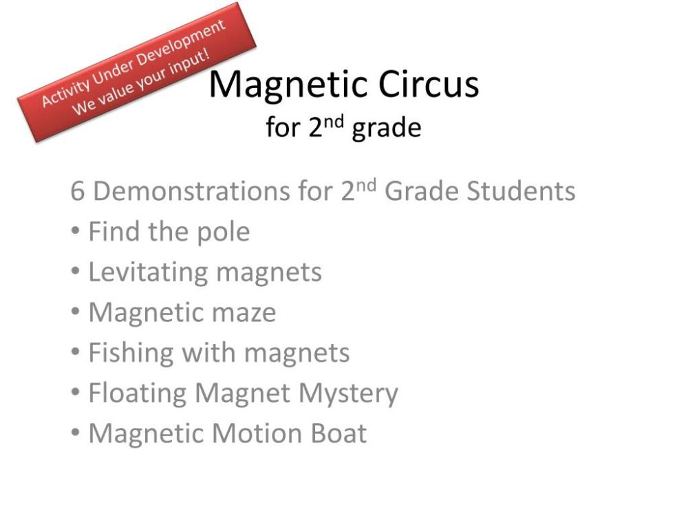 medium resolution of PPT - Magnetic Circus for 2 nd grade PowerPoint Presentation