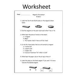 Floating Magnets Worksheet   Printable Worksheets and Activities for  Teachers [ 768 x 1024 Pixel ]