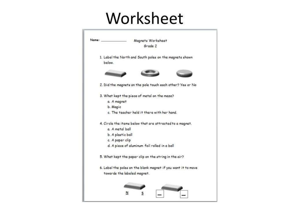 medium resolution of Floating Magnets Worksheet   Printable Worksheets and Activities for  Teachers