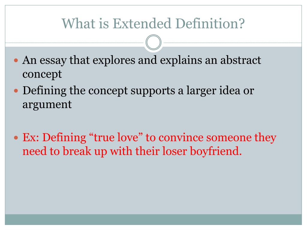 PPT - Methods for Writing Extended Definition PowerPoint ...