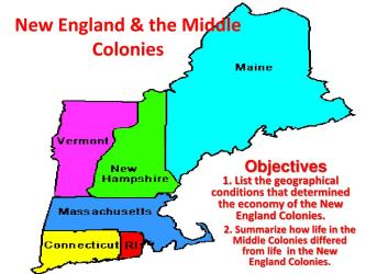 PPT New England & the Middle Colonies PowerPoint Presentation free download ID:2218388