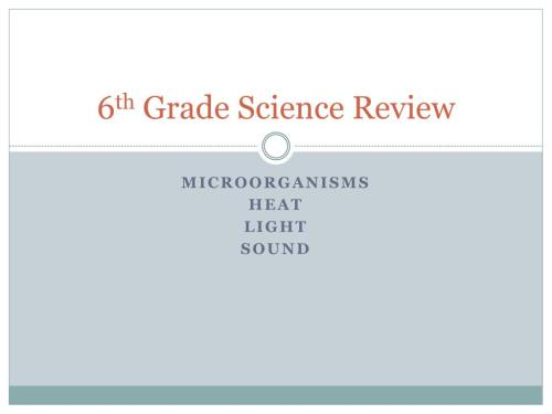 small resolution of PPT - 6 th Grade Science Review PowerPoint Presentation