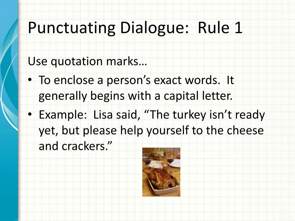 Dialogue Quotation Marks Examples