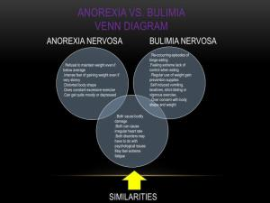 PPT  EATING DISORDERS: ANOREXIA & BULIMIA NERVOSA