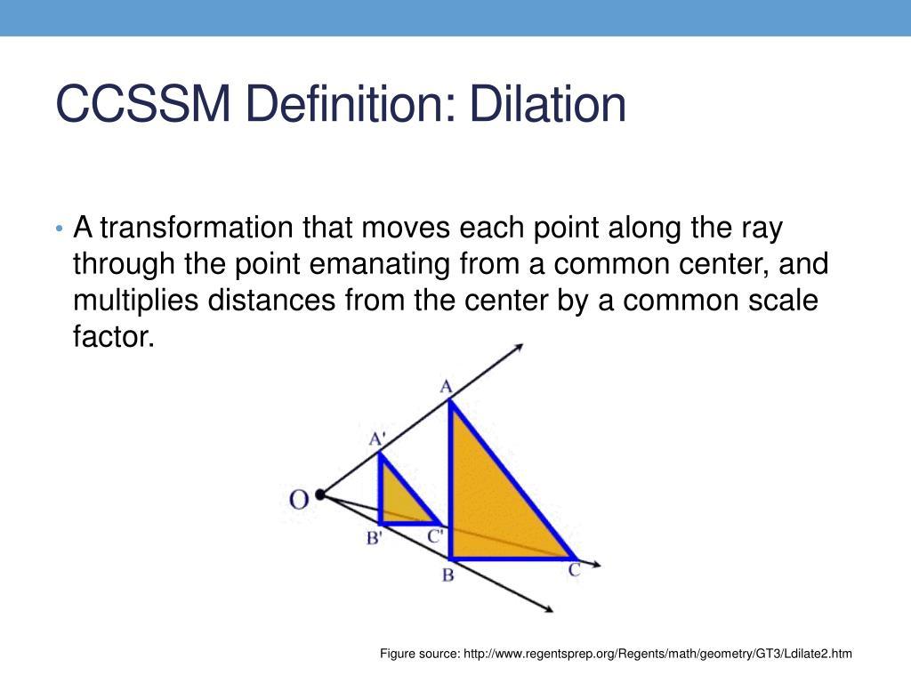 Dilation Definition In Geometry