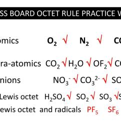co32 so42 non lewis octet h2so4 so2 so3 so42 non lewis octet and radicals pf5 sf6no2 examples where we minimize formal charge  [ 1024 x 768 Pixel ]