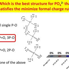 which is the best structure for po42 that satisfies the minimize formal charge  [ 1024 x 768 Pixel ]