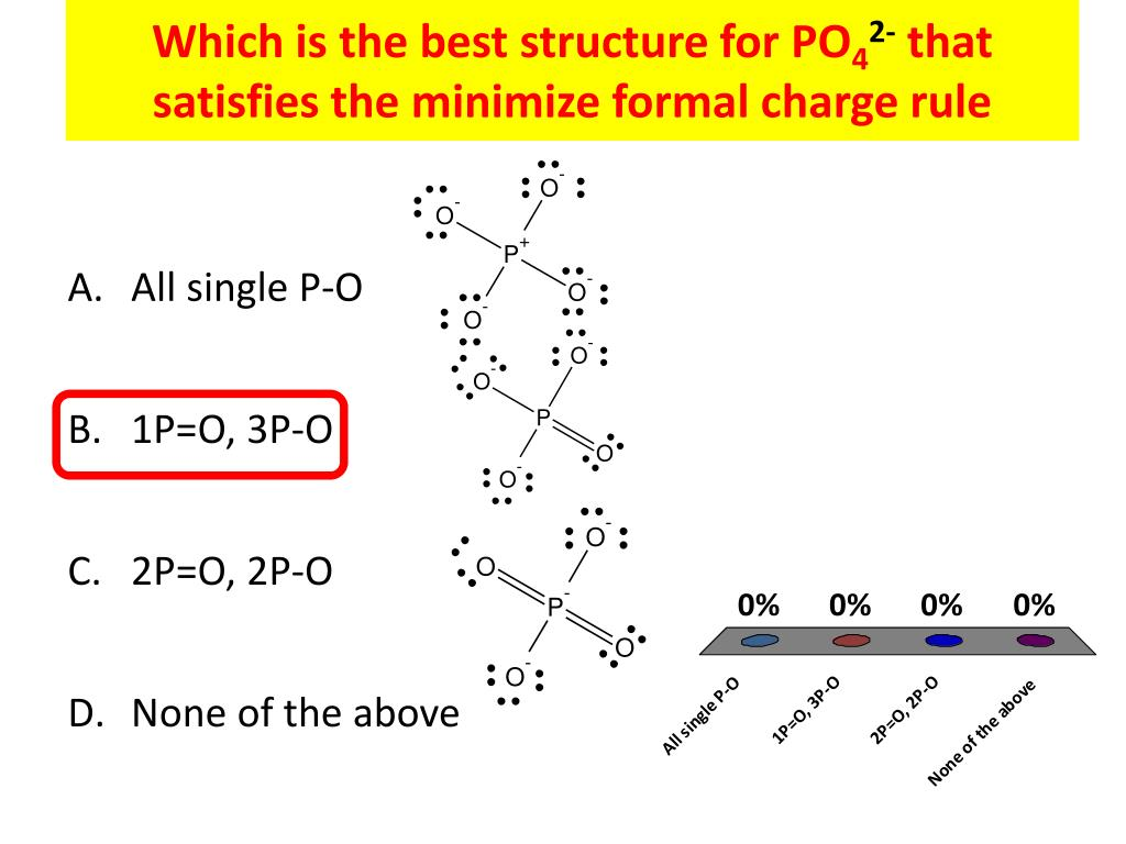 hight resolution of which is the best structure for po42 that satisfies the minimize formal charge