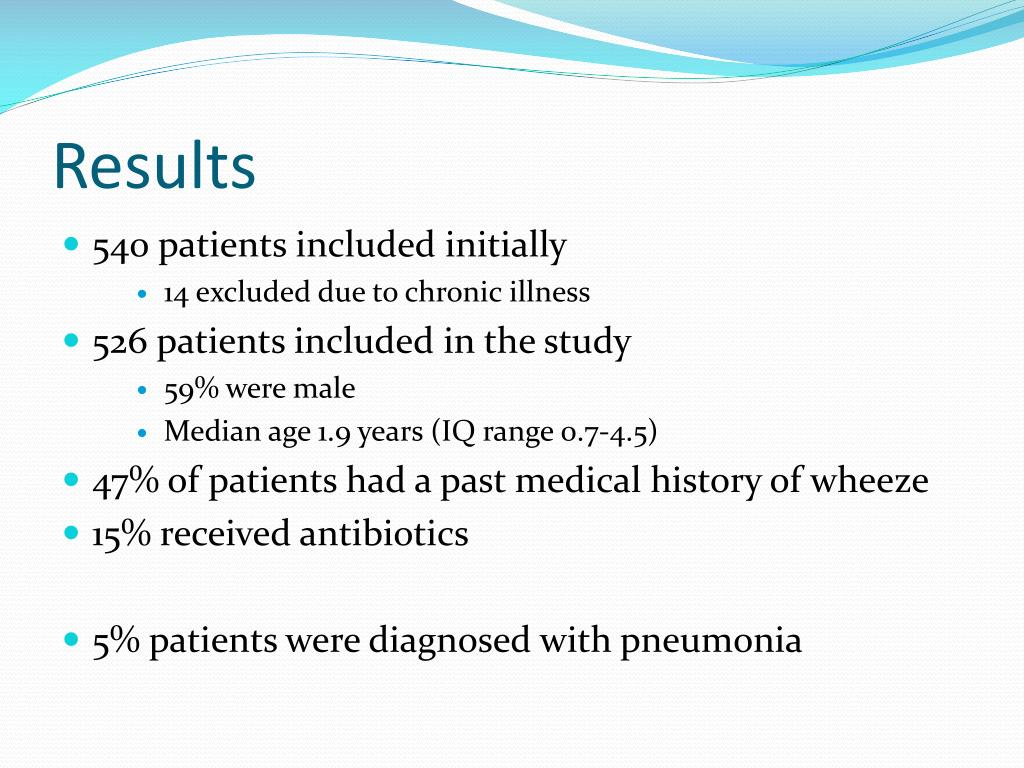 PPT - Clinical Predictors of Pneumonia Among Children with Wheeze PowerPoint Presentation - ID:2372283