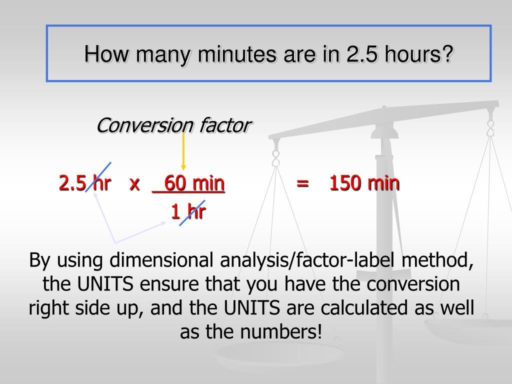 33 Dimensionalysis Factor Label Method